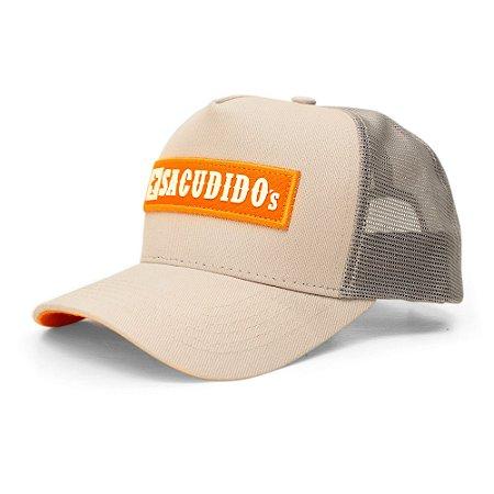 Boné Sacudido's - Etiqueta - Cinza / Laranja