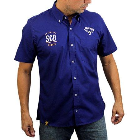 Camisa Manga Curta Sacudido's - Azul Royal