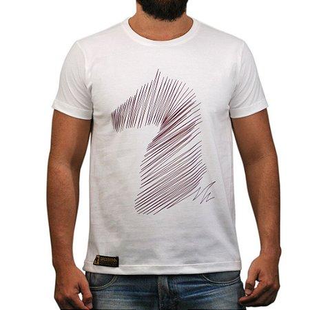 Camiseta Sacudido's - Cavalo Riscado - Natural