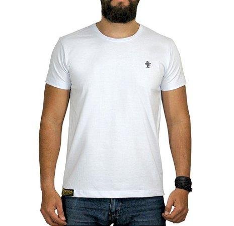 Camiseta Sacudido's - Básica - Branca / Cinza
