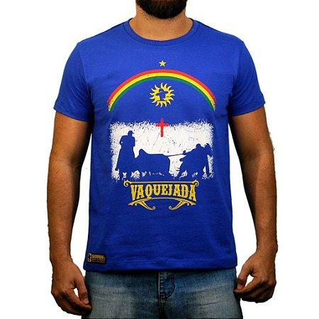 Camiseta Sacudido's - Vaquejada - Azul
