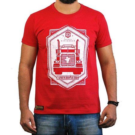 Camiseta Sacudido's - Caminhoneiro - Vermelha