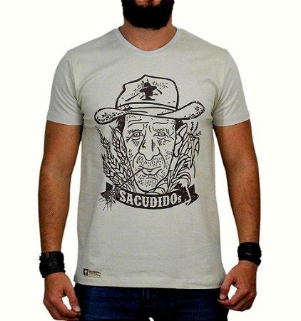 Camiseta Sacudido's - Véio - Areia