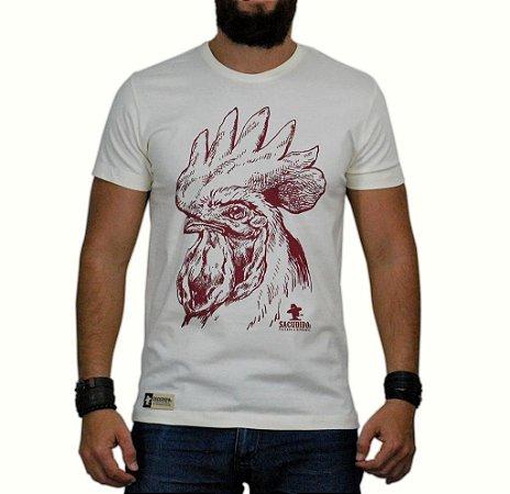 Camiseta Sacudido's - Galo - Natural