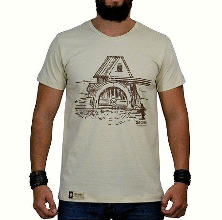 Camiseta Sacudido's - Celeiro - Bege