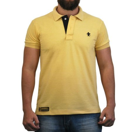 Camiseta Polo Sacudido's - Amarelo e Preto