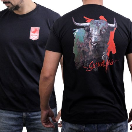 Camiseta Sacudido's - Touro Costas - Preto