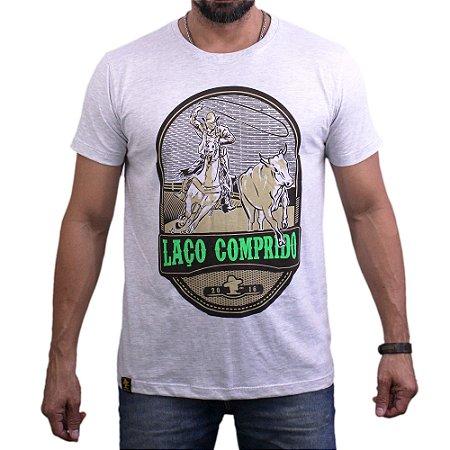 Camiseta Sacudido's - Laço Comprido - Mescla Claro
