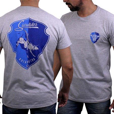Camiseta Sacudido's -Boiadeiro Costas-Mescla Médio