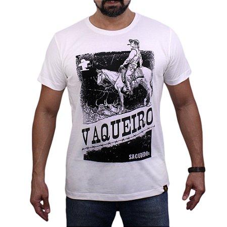 Camiseta Sacudido's - Vaqueiro - Marfim
