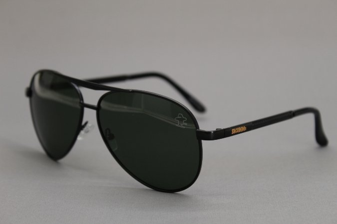 Óculos Sacudido´s - Aviador - Preto - Lente Verde