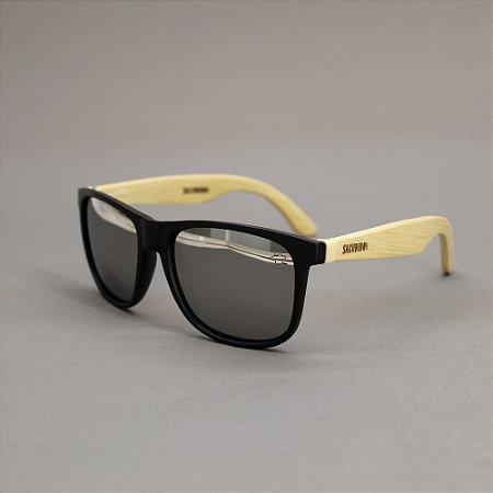 Óculos Sacudido´s - Bambu - Lente Prateada