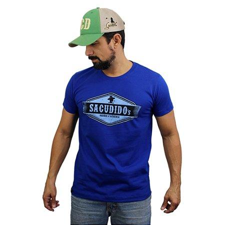 Camiseta Sacudido's - Etiqueta - Azul França