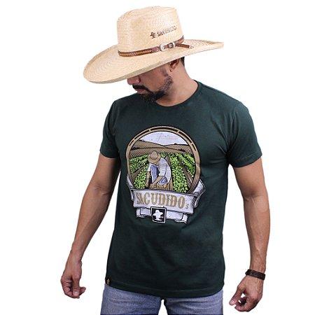 Camiseta Sacudido´s - Horta - Verde Musgo