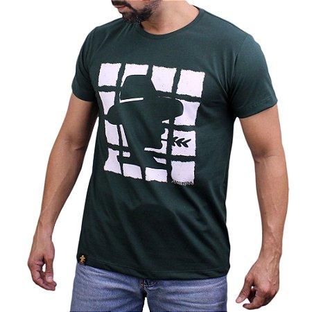 Camiseta Sacudido's - Quadrados - Verde Musgo