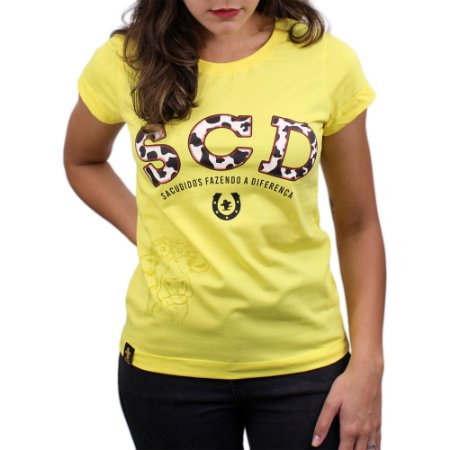 Camiseta Sacudido's Feminina - SCD Vaquinha-Verano
