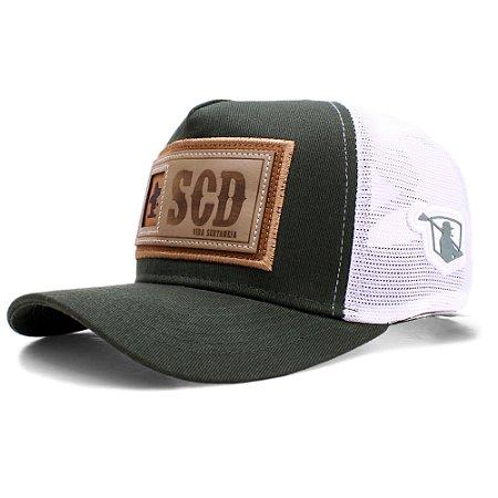 Boné Sacudido's Etiqueta  SCD - Verde Musgo