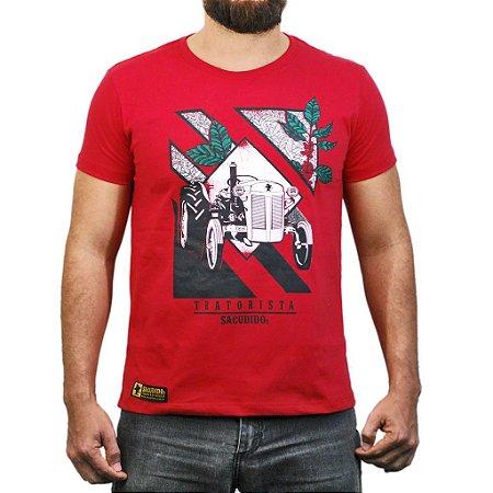 Camiseta Sacudido´s - Tratorista - Vermelha