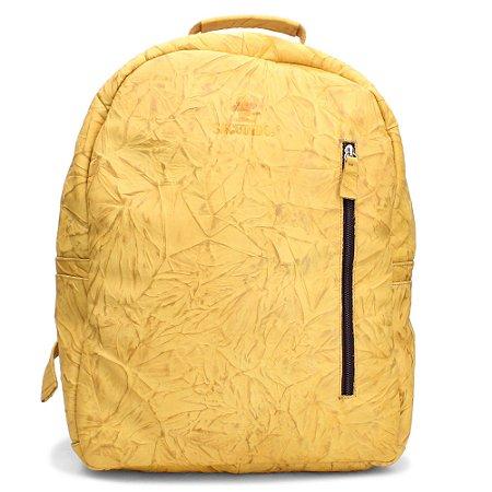 Mochila Sacudido's - Couro Amarelo Claro Especial