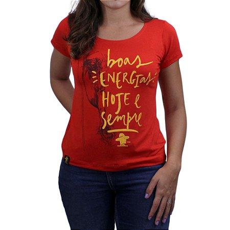 Camiseta SCD's Viscolycra Fem.-Boa Energia -Tomate
