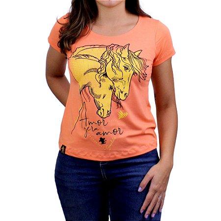 Camiseta SCD's Viscolycra Fem.- Cavalo - Laranja