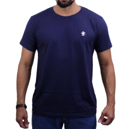 Camiseta Sacudido's - Básica - Marinho / Branco