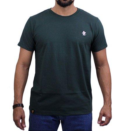 Camiseta Sacudido's - Básica - Verde Musgo/Natural