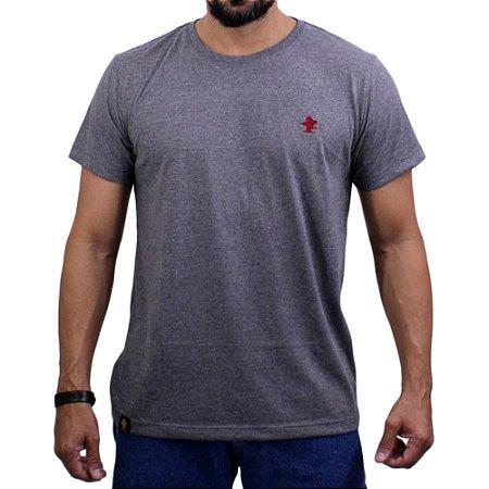 Camiseta Sacudido's - Básica - Mescla Escuro/ Rubi