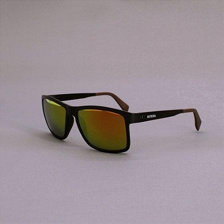 Óculos Sacudido´s - Preto Fosco - Lente Laranja