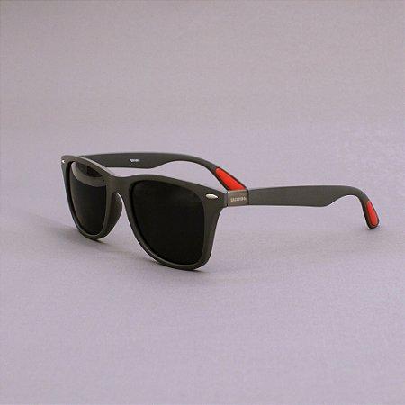 Óculos Sacudido´s - Cinza / Vermelho Fosco
