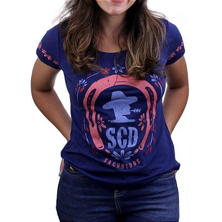 Camiseta SCD's Viscolycra Fem.- Ferradura -Marinho