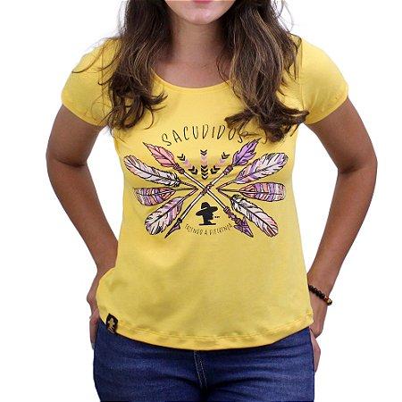 Camiseta SCD's Viscolycra Fem. - Penas - Amarela