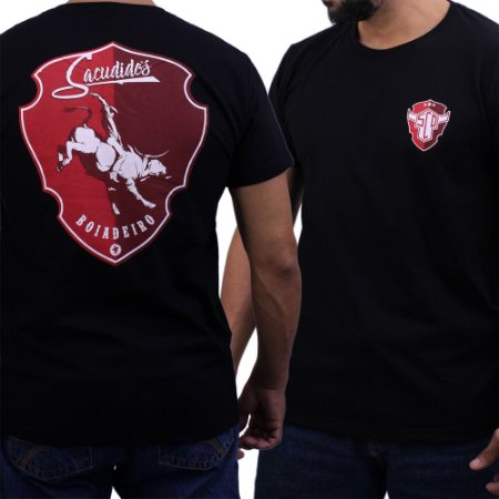 Camiseta Sacudido's - Boiadeiro - Preta