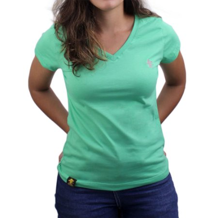 Camiseta SCD's Feminina Básica - Clorofila / Cinza