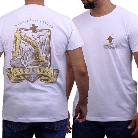 Camiseta Sacudido's - Escavadeira - Branco
