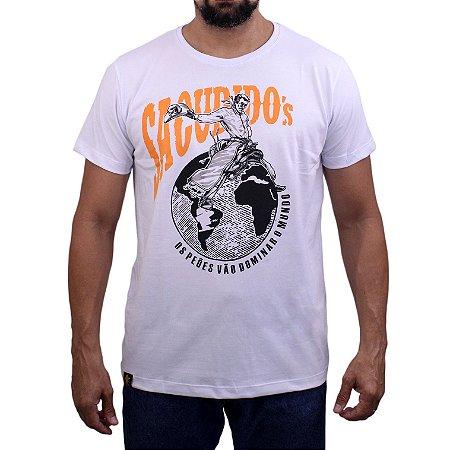 Camiseta Sacudido's - Peão Montado - Branco