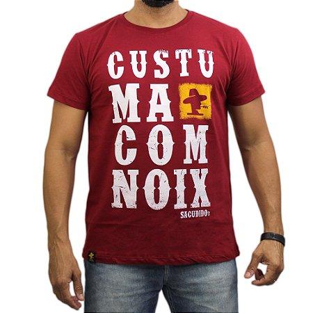 Camiseta Sacudido's - Custuma Com Noix - Rubi