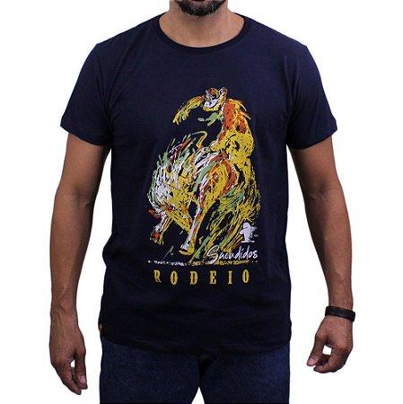 Camiseta Sacudido's - Rodeio - Marinho