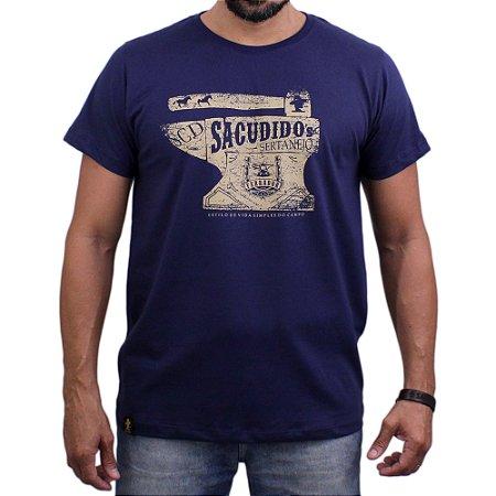 Camiseta Sacudido's - Bigorna - Marinho