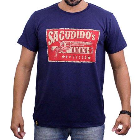 Camiseta Sacudido's - Revolver - Marinho