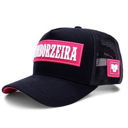 Boné Sacudido's - Tamborzeira - Preto / Pink