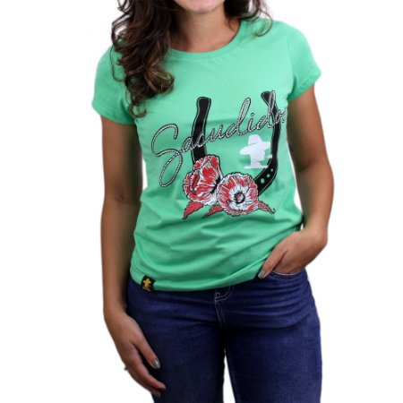 Camiseta Sacudido's Feminina - Ferradura-Clorofila