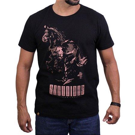 Camiseta Sacudido's - Cavalo Manchado - Preto