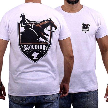 Camiseta Sacudido's - Cavalo - Branco