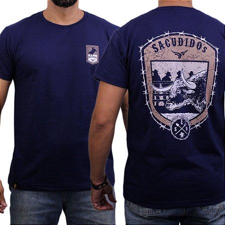 Camiseta Sacudido's - Rodeio Arame - Marinho