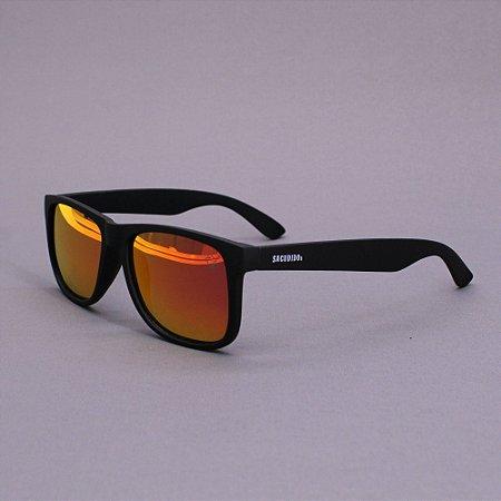 Óculos Sacudido´s - Preto Fosco - Lente Vermelho