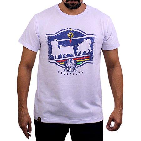 Camiseta Sacudido's - Vaquejada - Branco