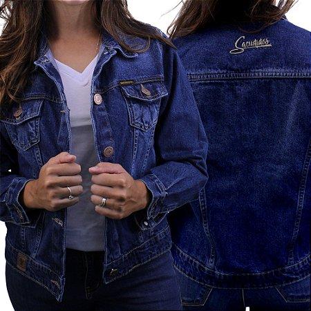 Jaqueta Sacudido's - Feminina - Jeans escuro