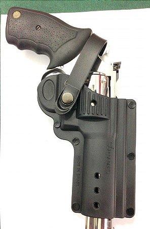 Coldre Destro em Polímero para Revolver 6 Tiros Só Coldres