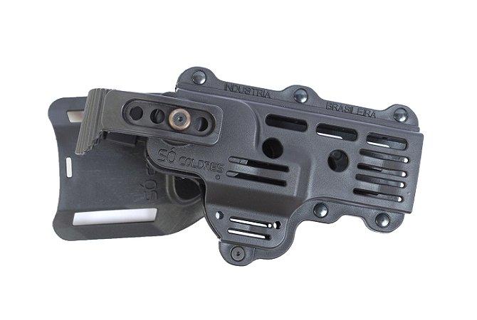 Coldre Universal de Cintura em Polímero com Trava Anti-Arrebatamento - Destro Só Coldres